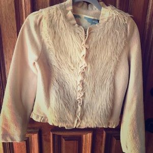 Vintage Hollister faux fur wool jacket